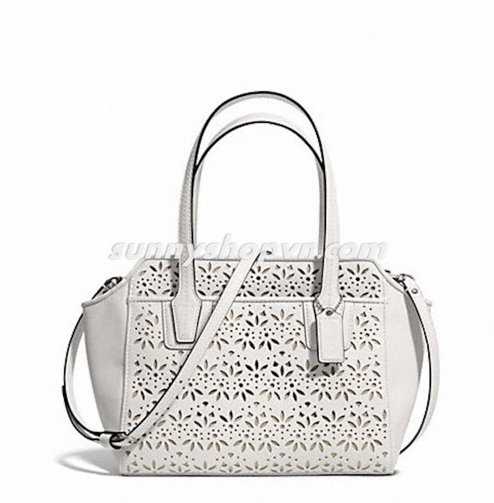 F28081 COACH TAYLOR EYELET LEATHER white