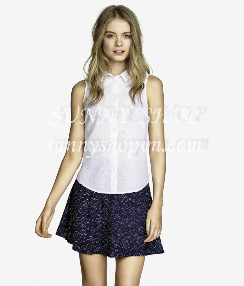 H&M Sleeveless Blouse trắng
